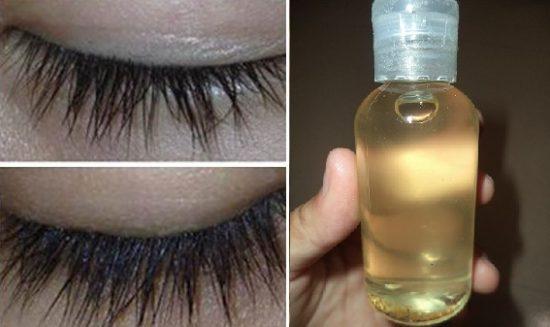 Massage dầu dừa vào lông mày, lông mi