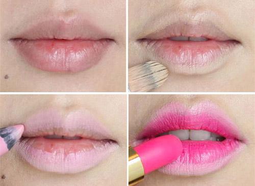 Chú ý trang điểm khi dùng son môi màu hồng