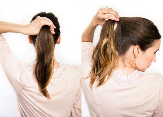 Không nên buộc tóc đuôi gà