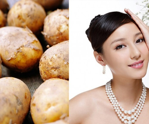 Làm trắng da cổ với khoai tây