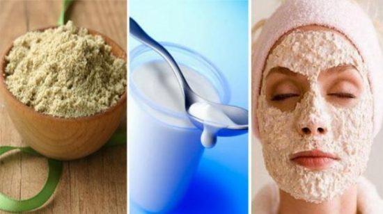 Sữa chua và cám gạo trị nám da