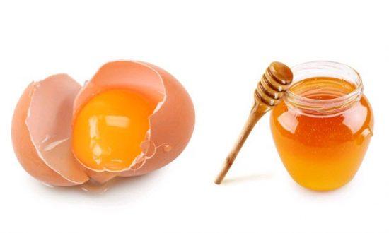 Công dụng của mật ong và trứng gà