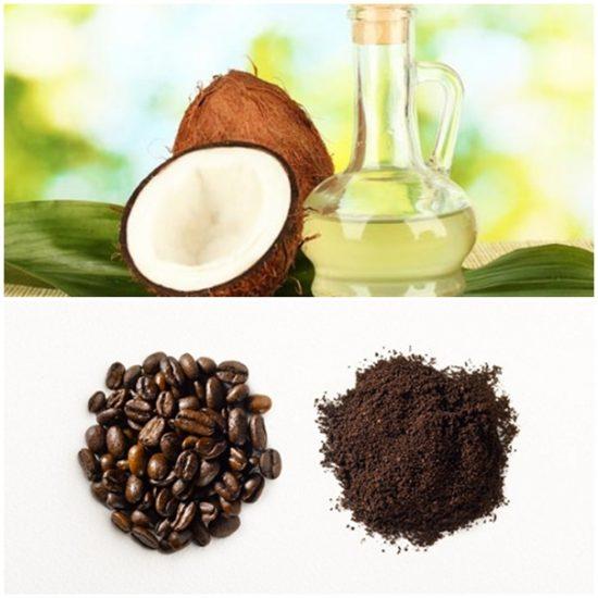 Bã cà phê và dầu dừa giúp da sáng hồng