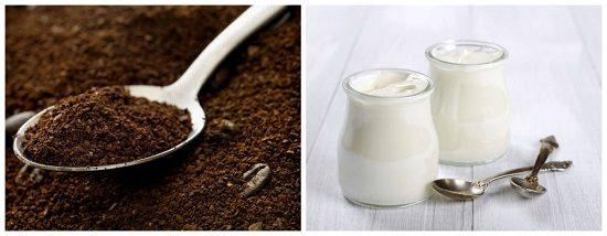 Bã cà phê và sữa chua