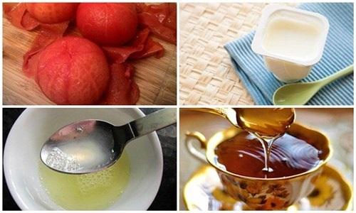 Cà chua, mật ong, sữa chua và nước cốt chanh