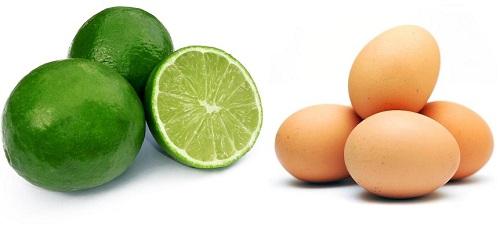 Mặt nạ hút dầu từ chanh và trứng gà