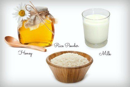 Sữa tươi gạo và mật ong giúp làm trắng da hiệu quả