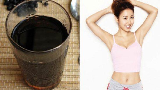 Nước đậu đen rang giúp giảm cân đẹp da
