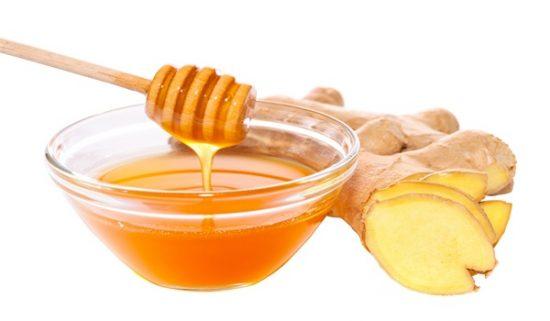 Gừng và mật ong giúp trị nếp nhăn