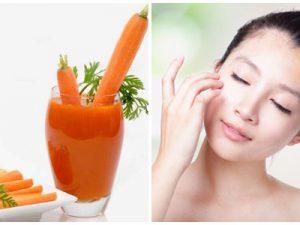 Mặt nạ từ cà rốt giúp dưỡng da trị mụn hiệu quả