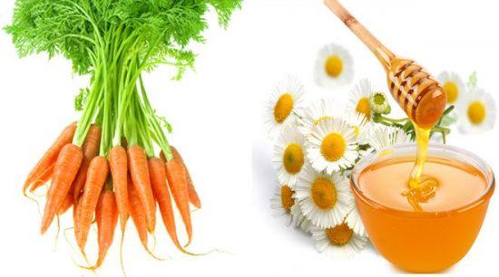 Mặt nạ làm mờ sẹo, trị cháy nắng cà rốt và mật ong