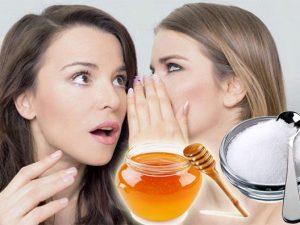 Phòng bệnh hôi miệng với mật ong và muối