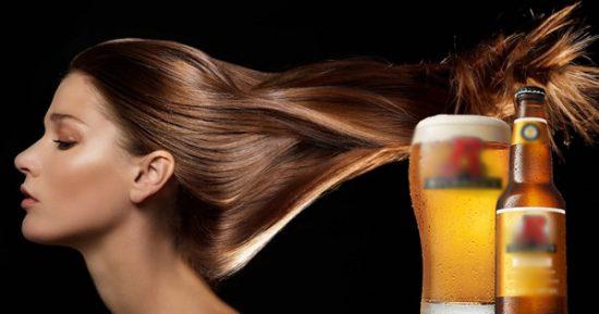 Bia giúp làm mềm mượt tóc