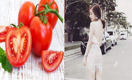 Tắm trắng da từ cà chua