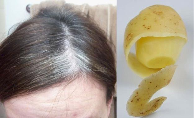 Vỏ khoai tây giúp làm đẹp tóc