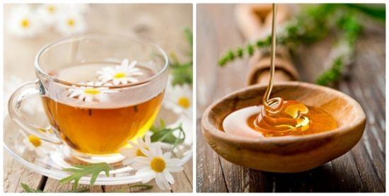 Trà hoa cúc và mật ong