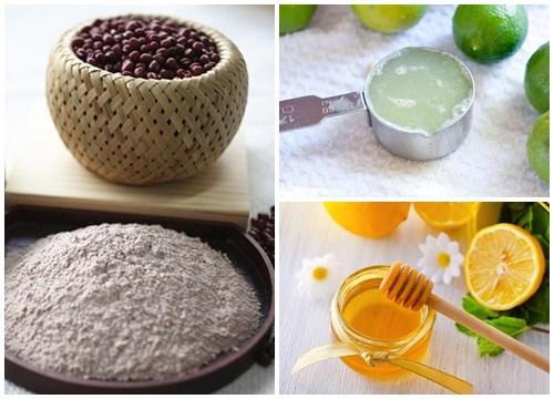Kết hợp bột đậu đỏ cùng các nguyên liệu giúp làm trắng da