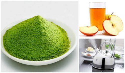 Làm sạch cho da hiệu quả với bột trà xanh cùng một ít giấm táo