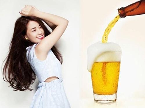 Tắm trắng da với bia giúp da sáng mịn